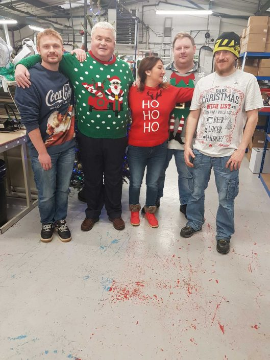 SK Electronics Christmas jumpers